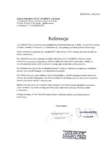 Referencje dla Marii Romanowskiej - tekst